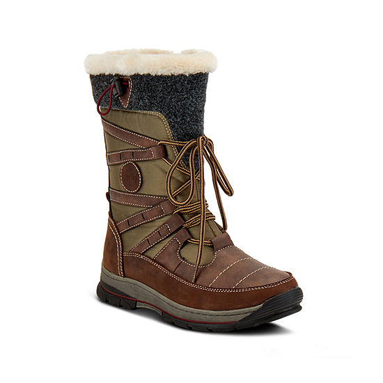 Spring Step Womens Brurr Water Resistant Snow Boots Flat Heel