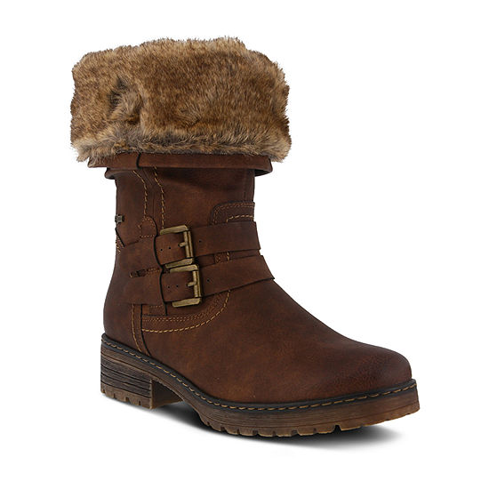 Spring Step Womens Comatulla Water Resistant Winter Boots Block Heel