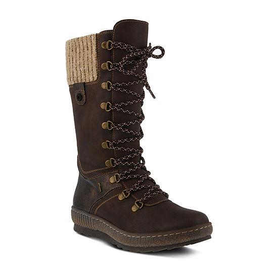 Spring Step Womens Chibero Water Resistant Winter Boots Flat Heel