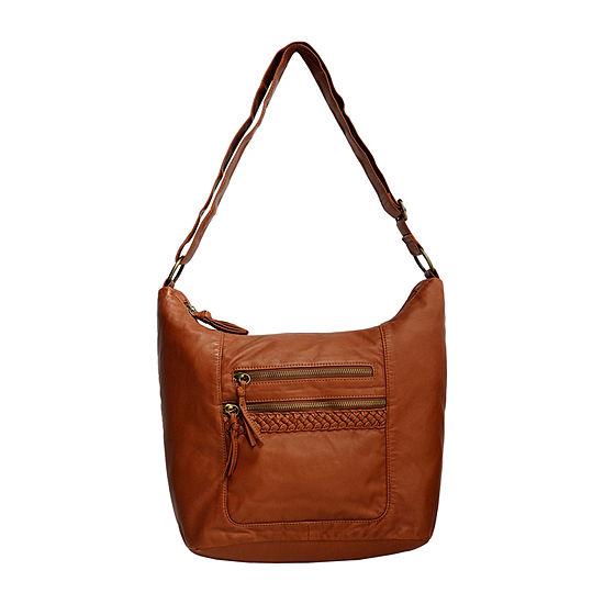 Bueno of California Washed Braided Large Hobo Bag