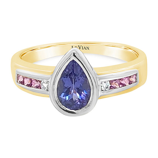 Le Vian Grand Sample Sale™ Ring featuring Blueberry Tanzanite® Bubble Gum Pink Sapphire™ set in 18K Two Tone Gold