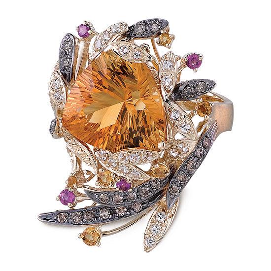 Le Vian Grand Sample Sale™ Ring featuring Cinnamon Citrine® Pomegranate Garnet™ Vanilla Topaz™ Chocolate Diamonds® set in 14K Honey Gold™