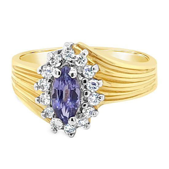 Le Vian Grand Sample Sale™ Ring featuring Blueberry Tanzanite® set in 14K