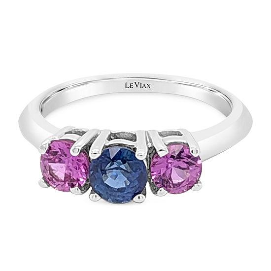 Le Vian Grand Sample Sale™ Ring featuring Cornflower Ceylon Sapphire™ Bubble Gum Pink Sapphire™ set in 14K Vanilla Gold®