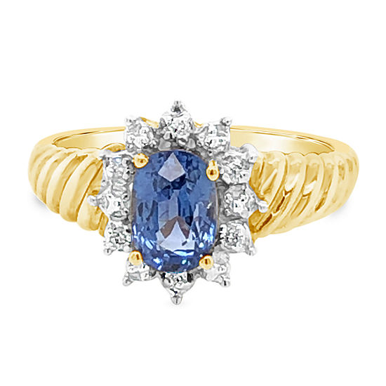 Le Vian Grand Sample Sale™ Ring featuring Cornflower Ceylon Sapphire™ set in 14K Honey Gold™