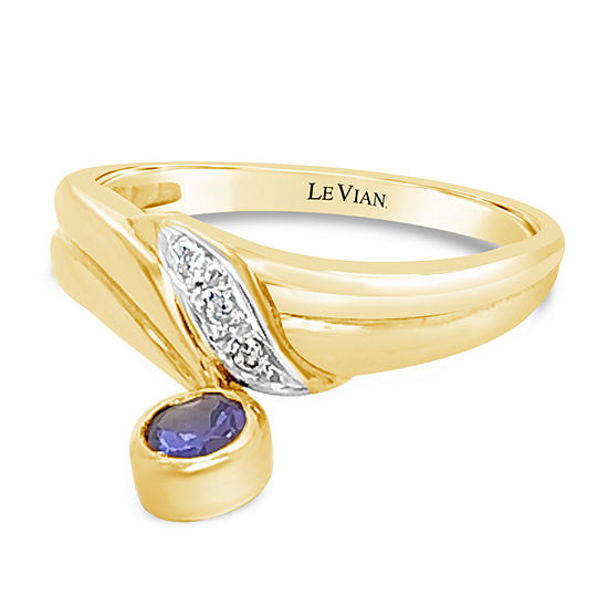 Le Vian Grand Sample Sale™ Ring featuring Blueberry Tanzanite® set in 18K Honey Gold™