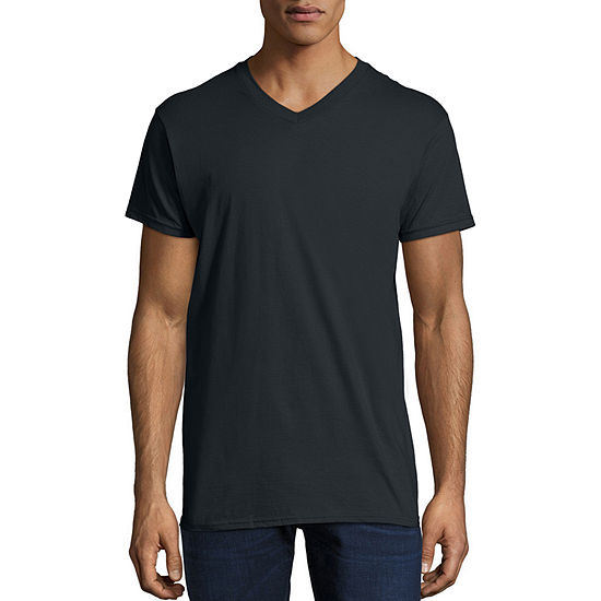 Hanes Mens V Neck Nano Lightweight Tee