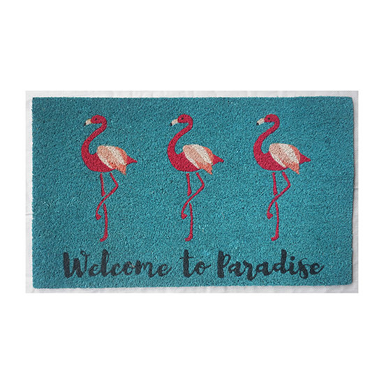 Oasis Welcome To Paradise Rectangular Indoor/Outdoor Doormat