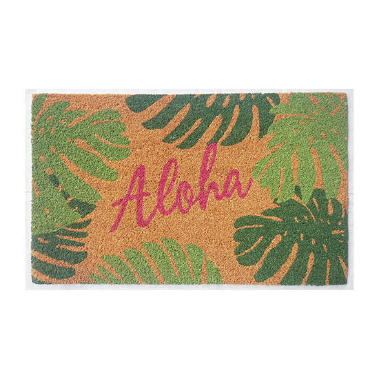 Outdoor Oasis Aloha Rectangular Indoor/Outdoor Doormat