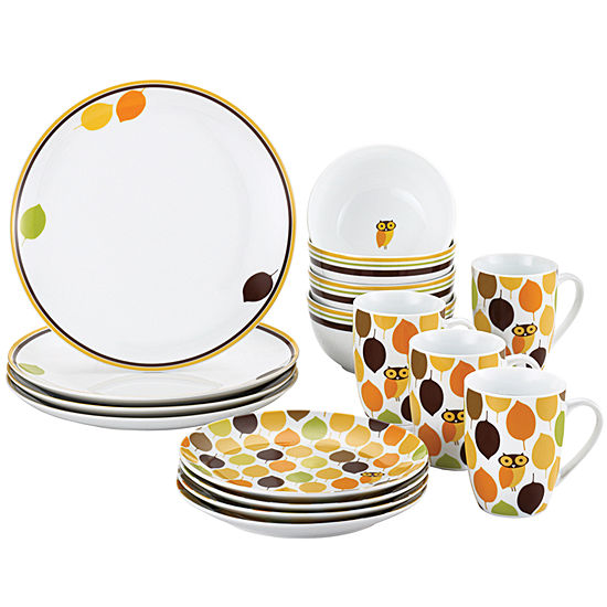 Rachael Ray Little Hoot16 Pc Dinnerware Set