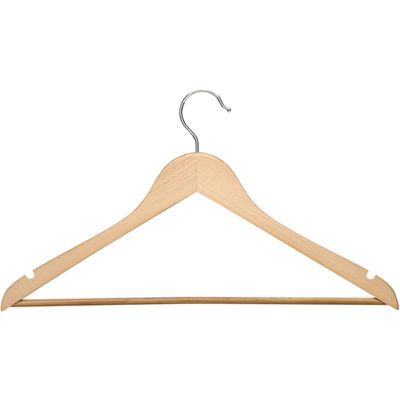 Honey-Can-Do® 8-Pack Maple Wood Suit Hangers Nonslip Bar