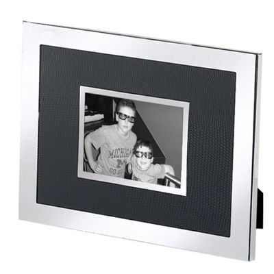 "Natico Black and Silver-Tone 2x3"" Picture Frame"
