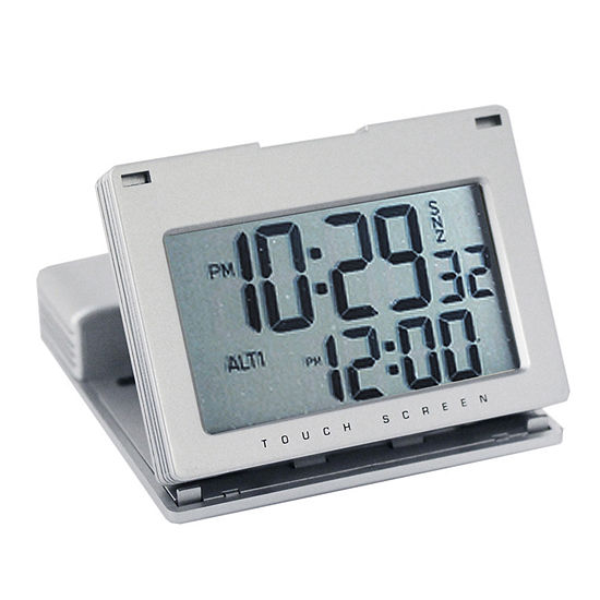 Natico Touch Panel Silver Alarm Clock