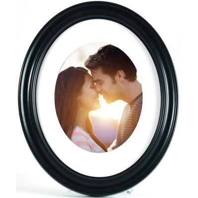 "Black Oval 8x10"" Picture Frame"