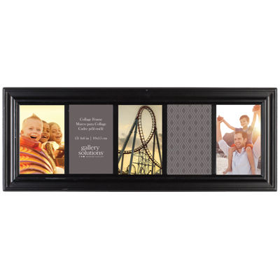 "Linear 5-Opening 4x6"" Collage Picture Frame"