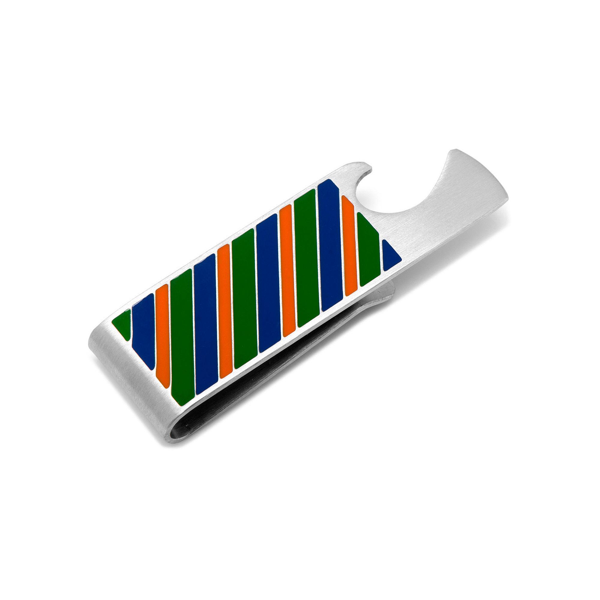 Varsity Stripes Bottle Opener Money Clip