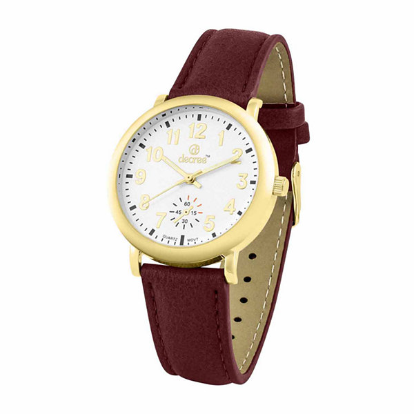 Decree Womens Red Strap Watch-Pt1781gdwn