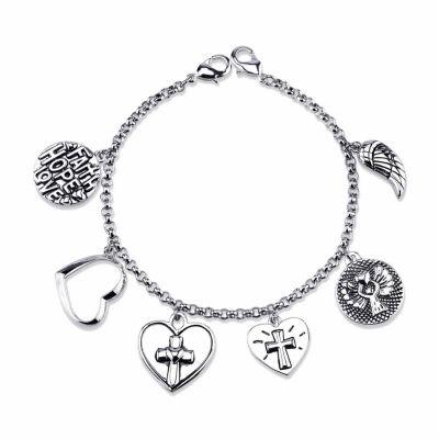 Footnotes Silver Tone Bangle Bracelet