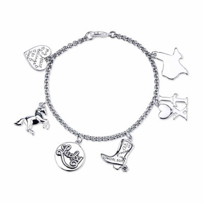 Footnotes Silver Tone Bangle Bracelet