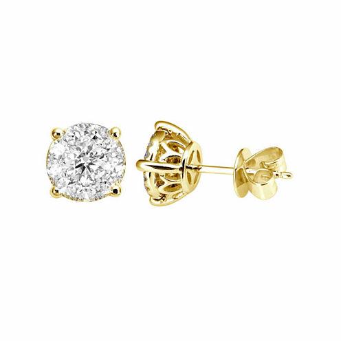 1/2 CT. T.W. Round White Diamond 14K Gold Stud Earrings