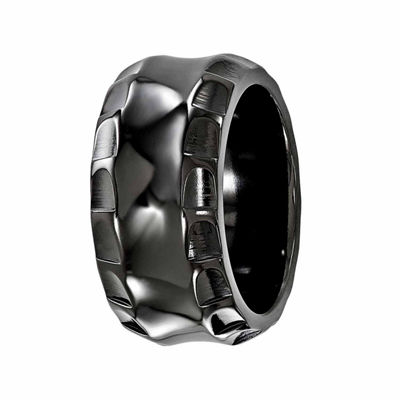 Edward Mirell Mens 12 Mm Titanium Wedding Band