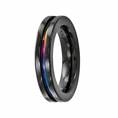 Edward Mirell Mens 4 Mm Titanium Band