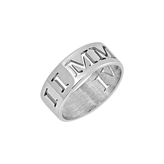 Personalized Roman Numeral Date Ring