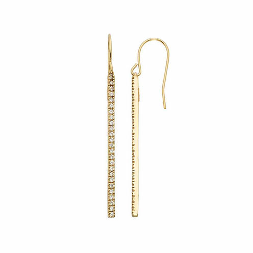 1/2 CT. T.W. White Diamond Gold Over Silver Drop Earrings