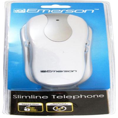 Emerson EM2116WH Trimline Corded 1-Handset Landline Telephone - White