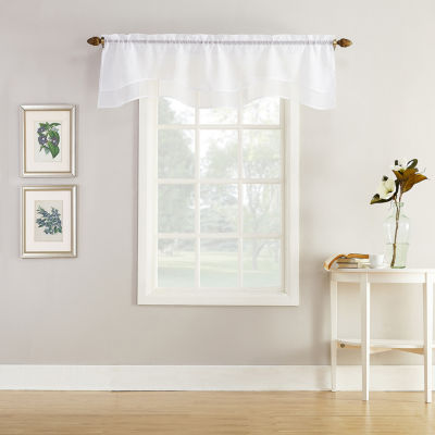 Home Expressions Jacqueline Rod-Pocket Scallop Valance