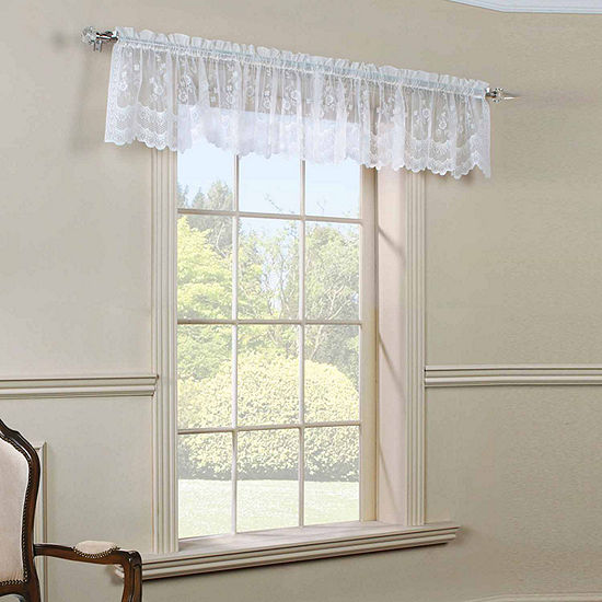 Mona Lisa Rod-Pocket Scallop Valance