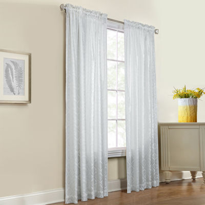 Anna Thermalace Rod-Pocket Curtain Panel