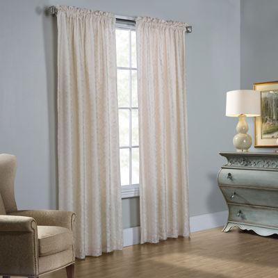 Anna Thermalace Rod-Pocket Curtain Panel