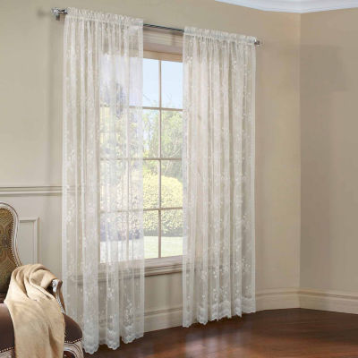 Mona Lisa Light-Filtering Rod-Pocket Single Curtain Panel