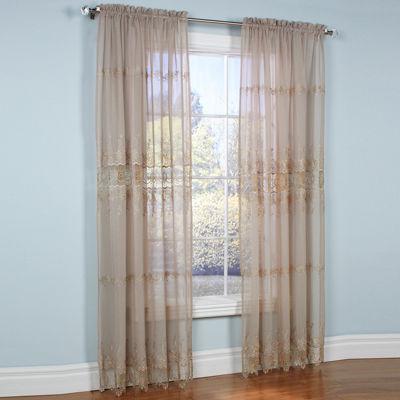 Anna Maria Rod-Pocket Sheer Curtain Panel