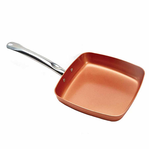 """As Seen On TV Copper Chef 9.5"""" Nonstick Square Frying Pan"""