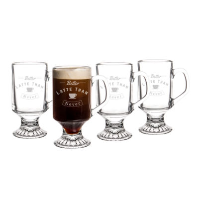 "Cathy's Concepts ""Better Latte Than Never"" Irish 4-pc. Coffee Mug"