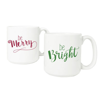 Cathy's Concepts Merry & Bright Large 2-pack Coffee Mug