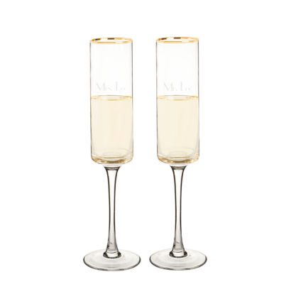 Cathy's Concepts Gold Rim 2-pc. Champagne Flutes