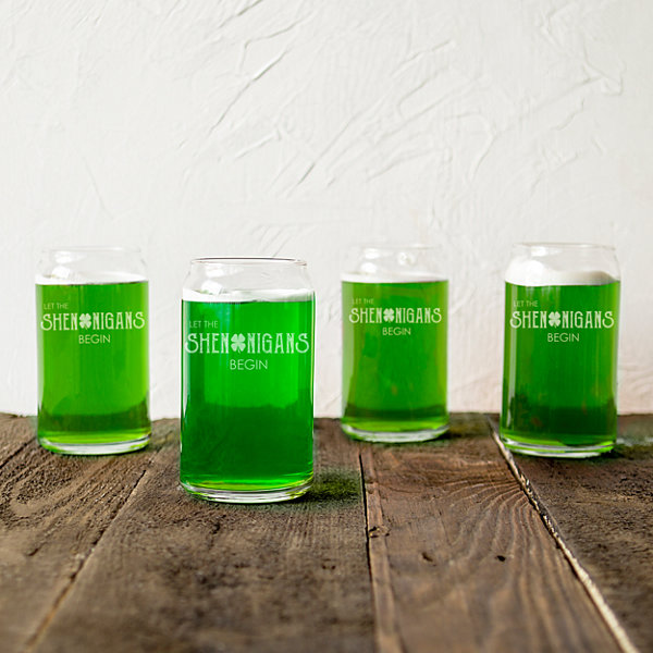Cathy's Concepts St. Patrick'S Day Shenanigans 4-pc. Beer Glass Set