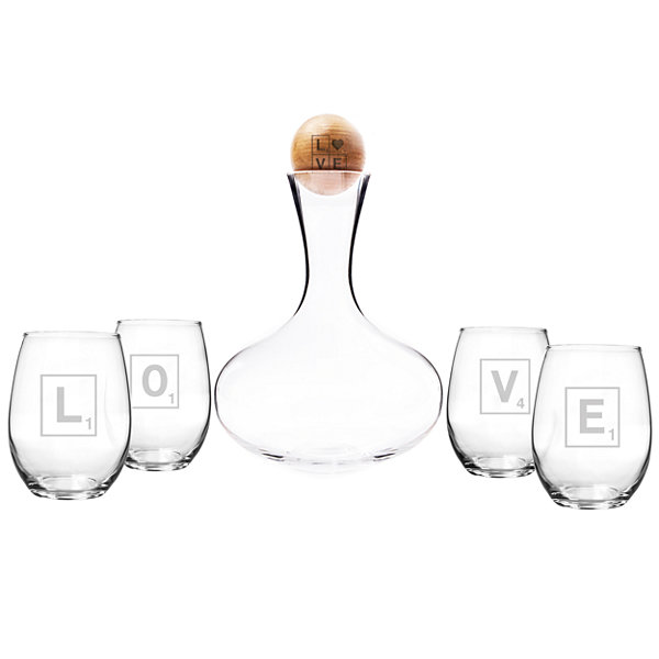 Cathy's Concepts Love Letters 5-pc. Decanter Set