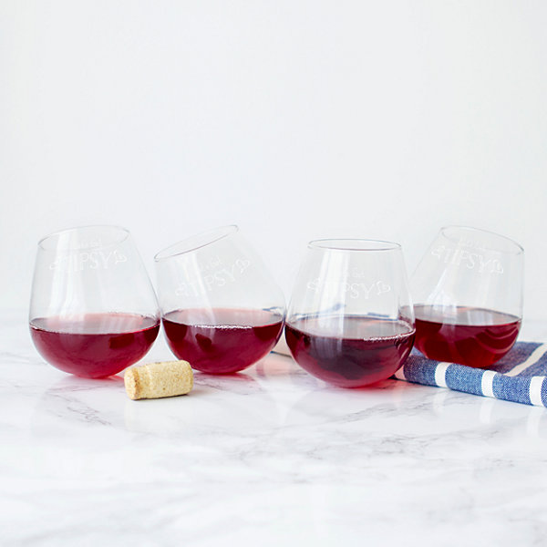 Cathy's Concepts Lets Get Tipsy 4-pc. Stemless Wine Glass