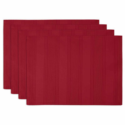 Arlee Encore Microfiber Placemats, Set of 4