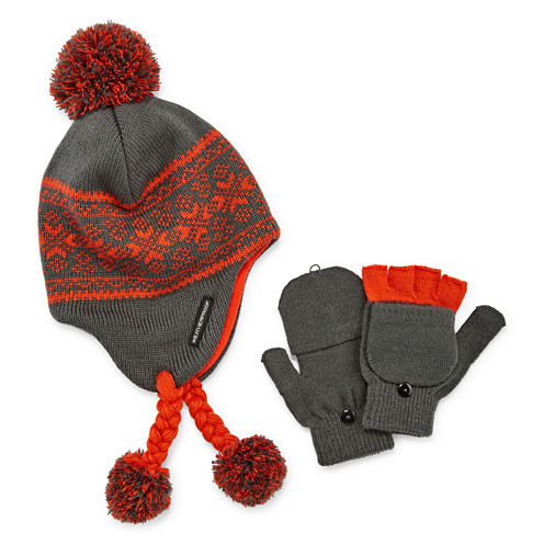 Weatherproof Peruvian Hat and Glove Set - Big Kid