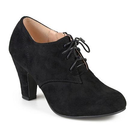 1940s Women's Footwear Journee Collection Womens Leona Booties Cone Heel 9 Medium Black $52.49 AT vintagedancer.com