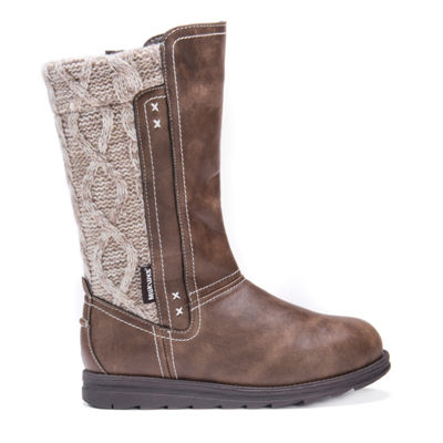 Muk Luks Womens Stacy Winter Boots Water Resistant Pull-on