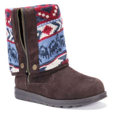 Muk Luks Womens Demi Winter Boots Water Resistant Zip