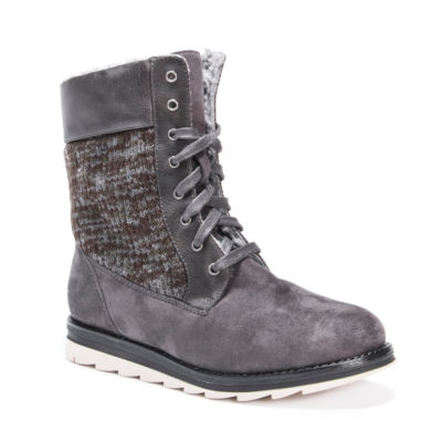 Muk Luks Womens Chirsty Winter Boots Water Resistant Lace-up