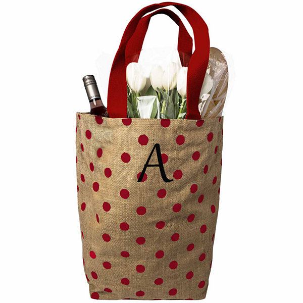 Cathy's Concepts Polkadot Natural Jute Tote