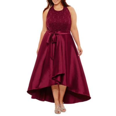 R & M Richards Sleeveless Evening Gown - Plus